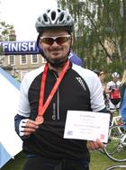 JUL13 News Shaun bike ride
